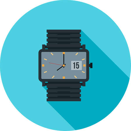 wrists: Watch, smart, wrist icon vector image. Can also be used for clothes and fashion. Suitable for web apps, mobile apps and print media.
