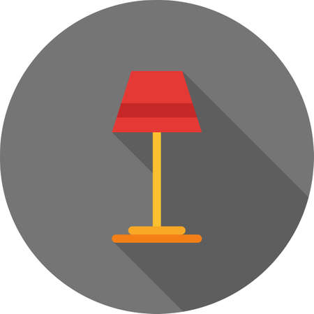 household objects: Lamp, table, night icon vector image. Can also be used for household objects. Suitable for use on web apps, mobile apps and print media.