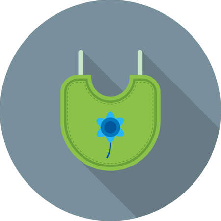 Bib, baby, infant icon vector image. Can also be used for clothes and fashion. Suitable for web apps, mobile apps and print media.