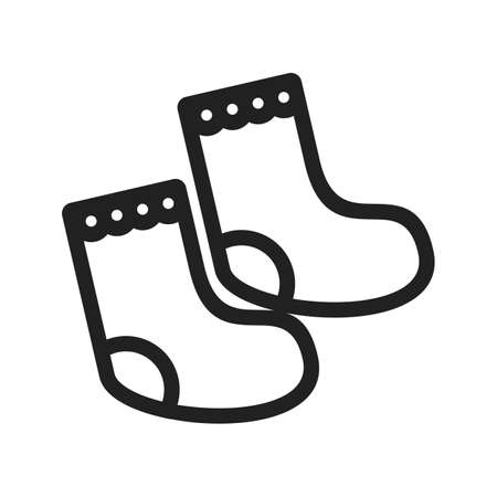 Kid, socks, baby icon vector image.Can also be used for baby. Suitable for mobile apps, web apps and print media.