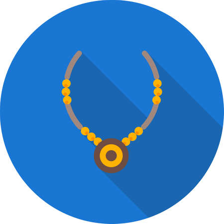 jewelry chain: Necklace, jewelry, chain icon vector image. Can also be used for household objects. Suitable for use on web apps, mobile apps and print media. Illustration