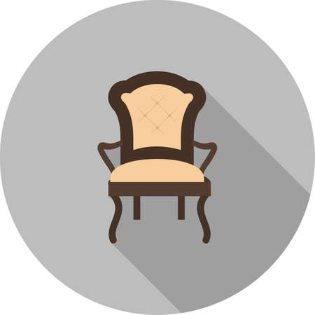 household objects: Chair, modern, furniture icon vector image. Can also be used for household objects. Suitable for use on web apps, mobile apps and print media. Illustration