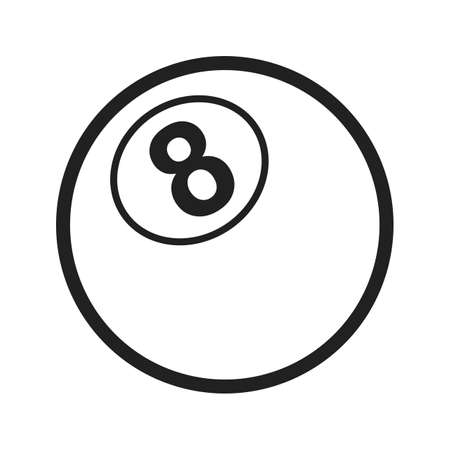 number eleven: Snooker, table, ball icon vector image. Can also be used for games & entertainment. Suitable for web apps, mobile apps and print media. Illustration