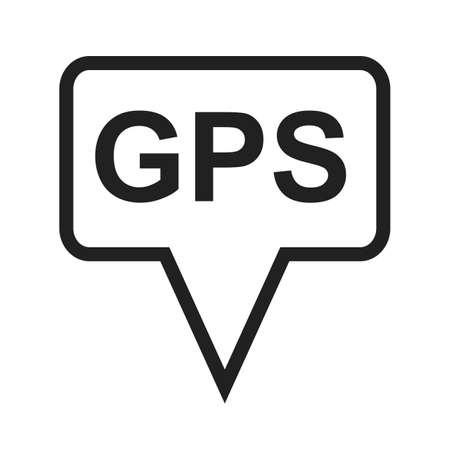 GPS, la navegación, el seguimiento icono de imagen vectorial. También se puede utilizar para los mapas y la navegación. Adecuado para aplicaciones móviles, aplicaciones web y medios impresos.