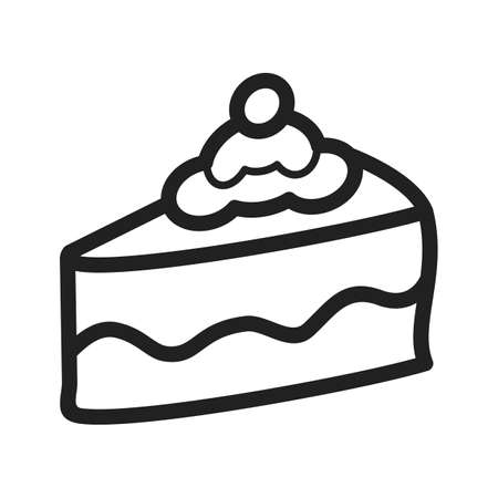 brown sugar: Cake, slice, chocolate icon vector image. Can also be used for bakery. Suitable for use on web apps, mobile apps and print media.
