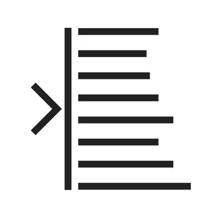 bar tool set: Text, edit, left icon vector image. Can also be used for text editing. Suitable for use on web apps, mobile apps and print media.