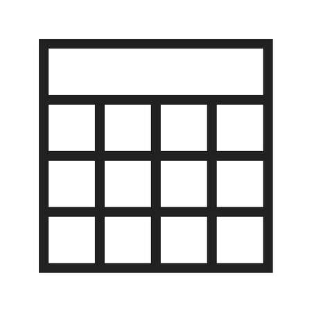 excel: Excel, blocks, table icon vector image.Can also be used for text editing. Suitable for mobile apps, web apps and print media.