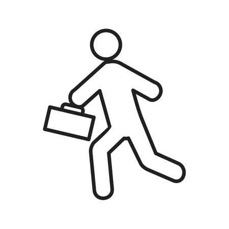llegar tarde: Tarde, reuni�n, la imagen del vector icono del reloj. Tambi�n se puede utilizar para los seres humanos. Adecuado para su uso en aplicaciones web, aplicaciones m�viles y material de impresi�n. Vectores