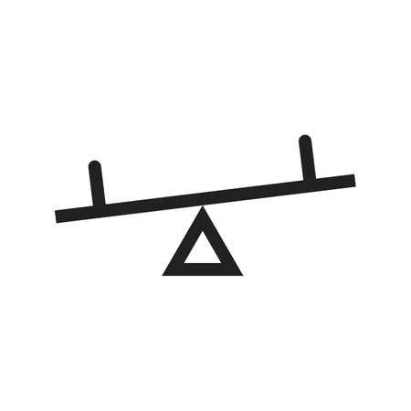 Seesaw, Kinder, Spielplatz-Symbol Vektor-Bild. Kann auch für Outdoor-Spaß verwendet werden. Geeignet für den Einsatz auf Web-Anwendungen, mobile Anwendungen und Printmedien. Standard-Bild - 51525356