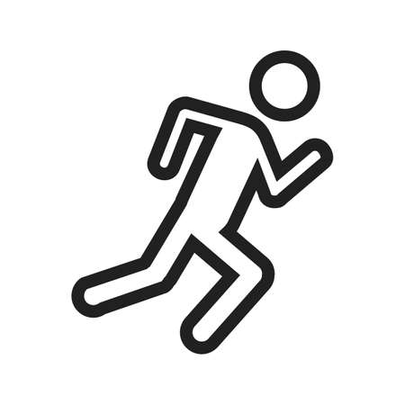 joggers: Marathon, run, people icon vector image. Can also be used for outdoor fun. Suitable for use on web apps, mobile apps and print media.