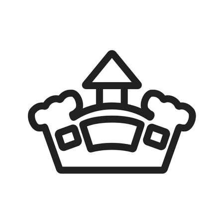 brincolin: Castillo, imagen vectorial hinchable, parque icono. Tambi�n se puede utilizar para la diversi�n al aire libre. Adecuado para su uso en aplicaciones web, aplicaciones m�viles y material de impresi�n. Vectores