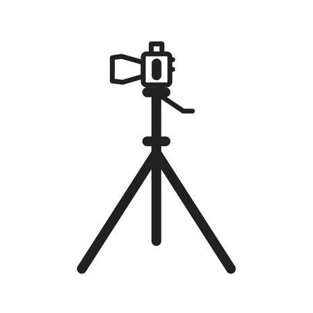 Camera, tripod, stand icon vector image. Can also be used for photography. Suitable for use on web apps, mobile apps and print media.