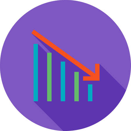slump: Crisis, bank, economic icon vector image. Can also be used for business, finance, technology, economics and accounting. Suitable for web apps, mobile apps and print media.