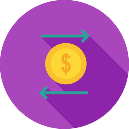 technology transaction: Transaction, transfer, funds icon vector image. Can also be used for business, finance, technology, economics and accounting. Suitable for web apps, mobile apps and print media. Illustration