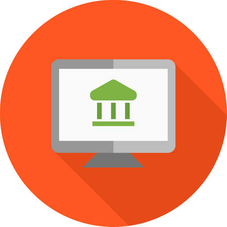 e commerce icon: Online, e-banking, e-commerce icon vector image. Can also be used for business, finance, technology, economics and accounting. Suitable for web apps, mobile apps and print media.