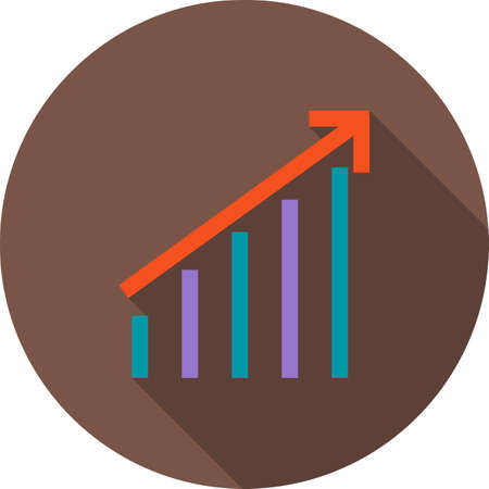 stat: Stats, graph, web icon vector image. Can also be used for business, finance, technology, economics and accounting. Suitable for web apps, mobile apps and print media.