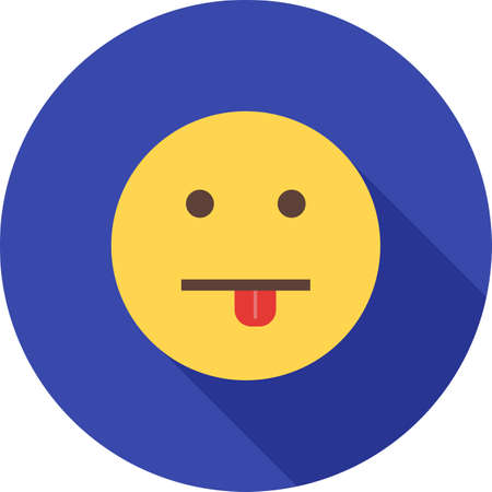 Silly, face, man icon vector image. Can also be used for emotions and halloween. Suitable for mobile apps, web apps and print media. Illustration