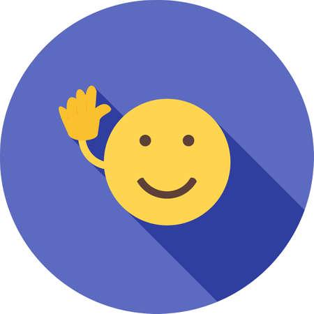 안녕히 계세요, 아이콘 벡터 이미지보기. 감정과 할로윈에도 사용할 수 있습니다. 모바일 앱, 웹 앱 및 인쇄 매체에 적합합니다.