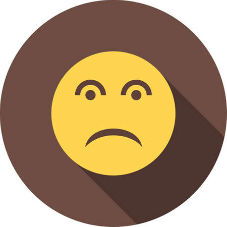 disappointed': Disappointed, face, expression icon vector image. Can also be used for emoctions, fun and party. Suitable for mobile apps, web apps and print media.