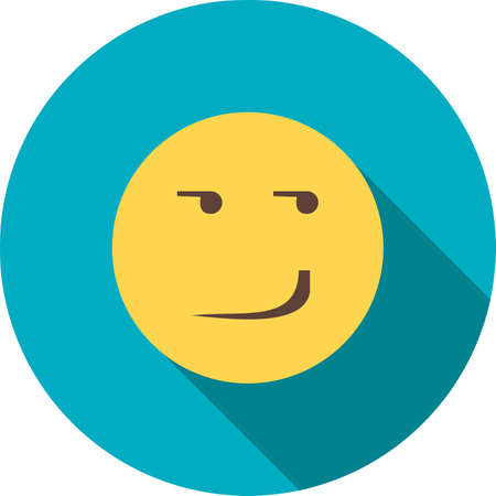 smirk: Smirking, happy, expression icon vector image. Can also be used for emotions and halloween. Suitable for mobile apps, web apps and print media. Illustration
