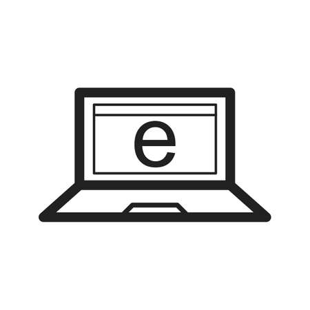 schooling: Internet, technology, business icon vector image. Can also be used for schooling. Suitable for use on web apps, mobile apps and print media.