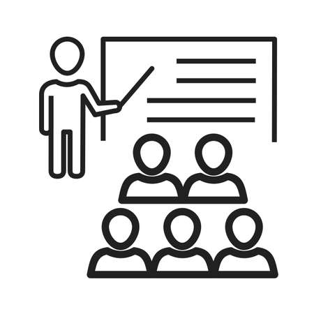 learning icon: School, class, learning icon vector image. Can also be used for schooling. Suitable for use on web apps, mobile apps and print media.