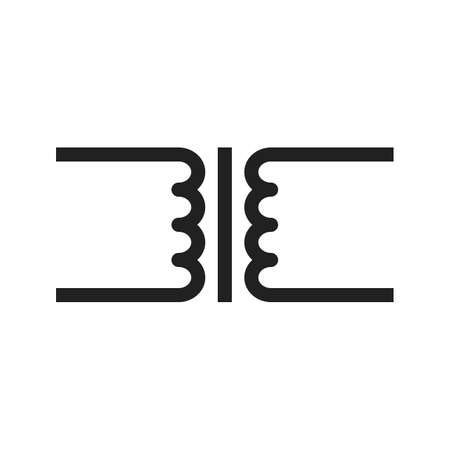 electric current: Transformer, circuit, electronic icon vector image. Can also be used for electric circuits. Suitable for use on web apps, mobile apps and print media.