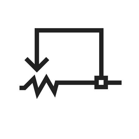 Rheostat, circuit, electronic icon vector image. Can also be used for electric circuits. Suitable for use on web apps, mobile apps and print media. Illustration