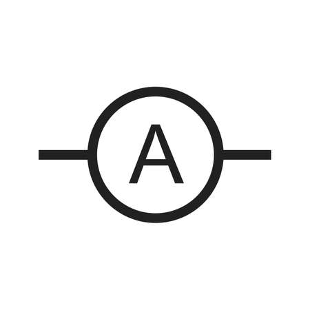 ammeter: Ammeter, meter, electrician icon vector image. Can also be used for electric circuits. Suitable for use on web apps, mobile apps and print media. Illustration
