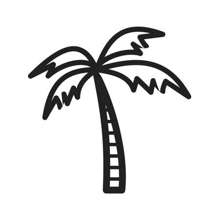 maldives island: Tree, coconut, palm icon vector image. Can also be used for sea. Suitable for use on web apps, mobile apps and print media.
