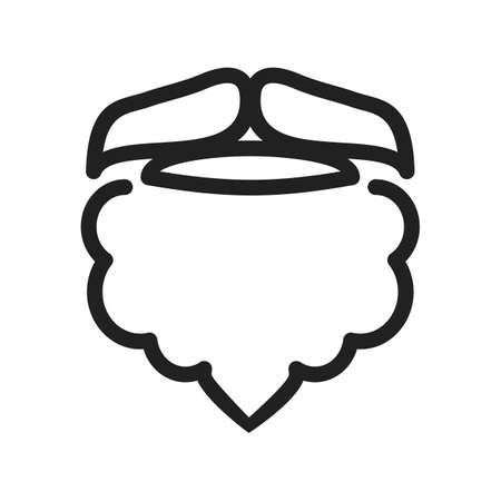 hair mask: Beard, man, moustache icon vector image.Can also be used for hipster. Suitable for mobile apps, web apps and print media. Stock Photo