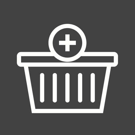 basket icon: Basket, buy, purchase icon vector image.Can also be used for marketing. Suitable for mobile apps, web apps and print media. Illustration