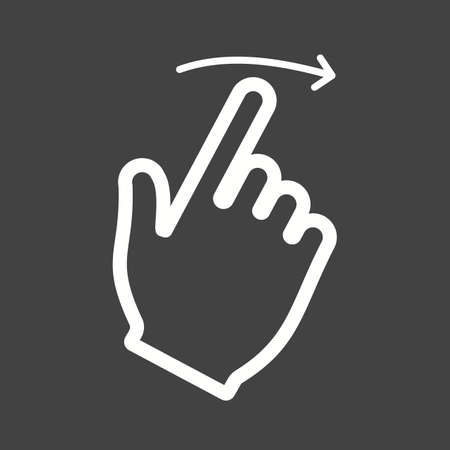 swipe: Swipe, right, touch icon vector image.Can also be used for user touch gestures. Suitable for mobile apps, web apps and print media.
