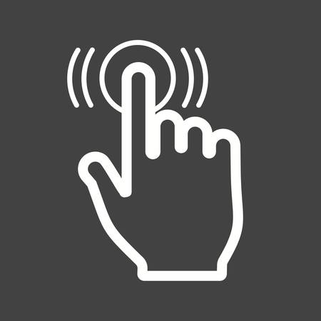 Double, tap, click icon vector image.Can also be used for user touch gestures. Suitable for mobile apps, web apps and print media.