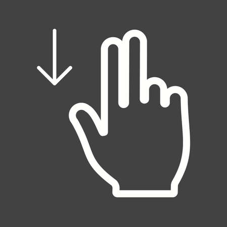 double tap: Touch, fingers, down icon vector image.Can also be used for user touch gestures. Suitable for mobile apps, web apps and print media. Illustration