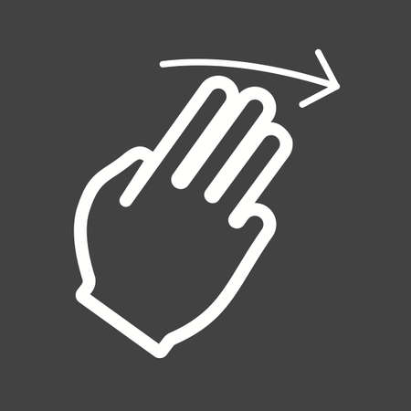 double tap: Cursor, fingers, right icon vector image.Can also be used for user touch gestures. Suitable for mobile apps, web apps and print media.