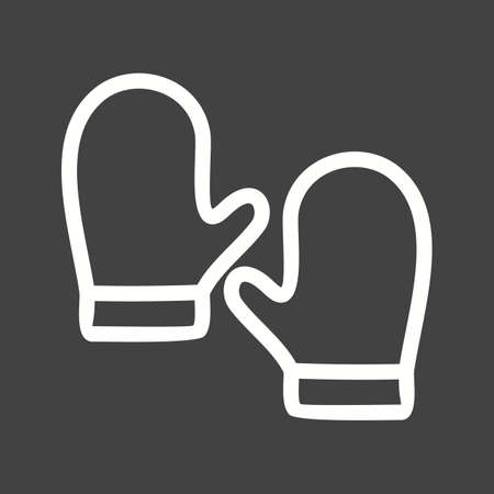 leather gloves: Leather, gloves, winter icon vector image.Can also be used for winter. Suitable for mobile apps, web apps and print media. Illustration