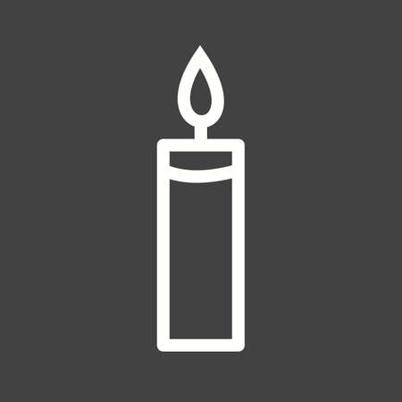 candle light: Candle, light, birthday icon vector image. Can also be used for winter. Suitable for use on web apps, mobile apps and print media.