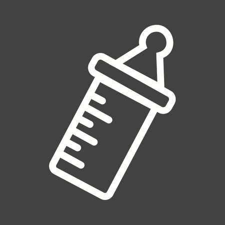 Milk, bottle, baby icon vector image.Can also be used for baby. Suitable for mobile apps, web apps and print media.
