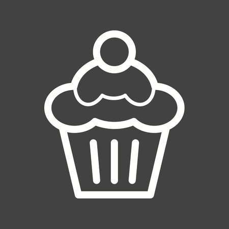 homemade cake: Cupcake, strawberry, cake icon vector image. Can also be used for bakery. Suitable for use on web apps, mobile apps and print media.