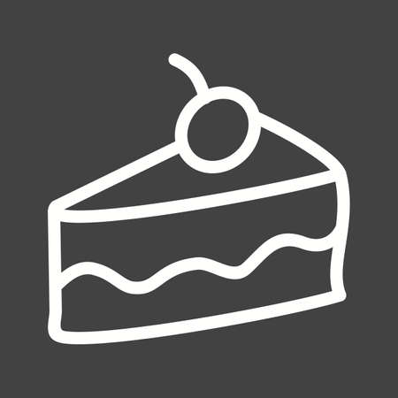 cake slice: Cake, slice, chocolate icon vector image. Can also be used for bakery. Suitable for use on web apps, mobile apps and print media.