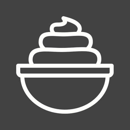 whipped: Cream, whipped, bakery icon vector image.Can also be used for bakery. Suitable for mobile apps, web apps and print media. Illustration