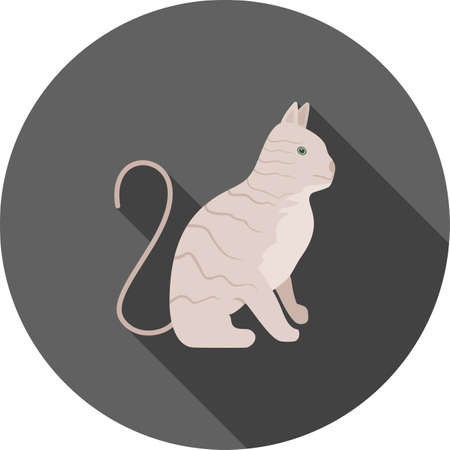 pussy cat: Wild cat, pussy cat icon vector image. Can also be used for Animals and Insects. Suitable for mobile apps, web apps and print media.