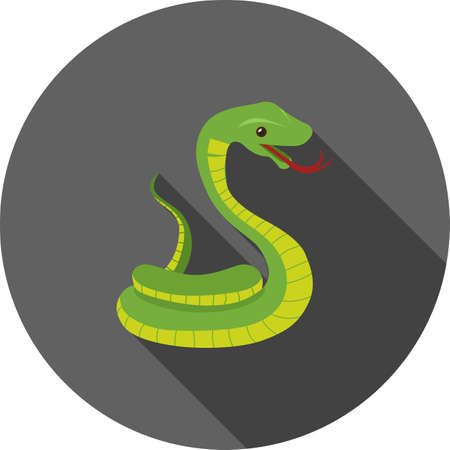 venomous: Snake, cobra, king icon vector image. Can also be used for Animals and Insects. Suitable for mobile apps, web apps and print media.