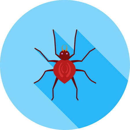 poison symbol: Spider, black, insect icon vector image. Can also be used for Animals and Insects. Suitable for mobile apps, web apps and print media.