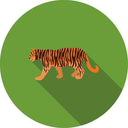 siberian tiger: tiger, animal, cub, wild, mammal, predator, carnivore, siberian, tigris, beautiful, roaring, fast,danger, icon, vector, symbol, concept, design