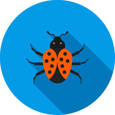 web crawler: Bug, crawler, insect icon vector image. Can also be used for Animals and Insects. Suitable for mobile apps, web apps and print media. Illustration