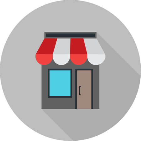 media center: Shopping, mall, center icon vector image. Can also be used for Black Friday sale and discounts. Suitable for use on web apps, mobile apps and print media. Illustration