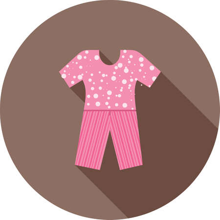 pyjama: Pants, pyjama, fashion icon vector image. Can also be used for clothes and fashion. Suitable for web apps, mobile apps and print media.