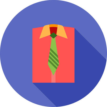 shirt and tie: Shirt, tie, suit icon vector image. Can also be used for clothes and fashion. Suitable for web apps, mobile apps and print media. Illustration